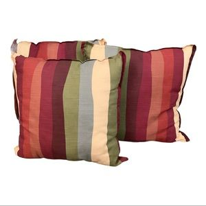 NWT Set of 3 Pier One Striped Accent Pillows
